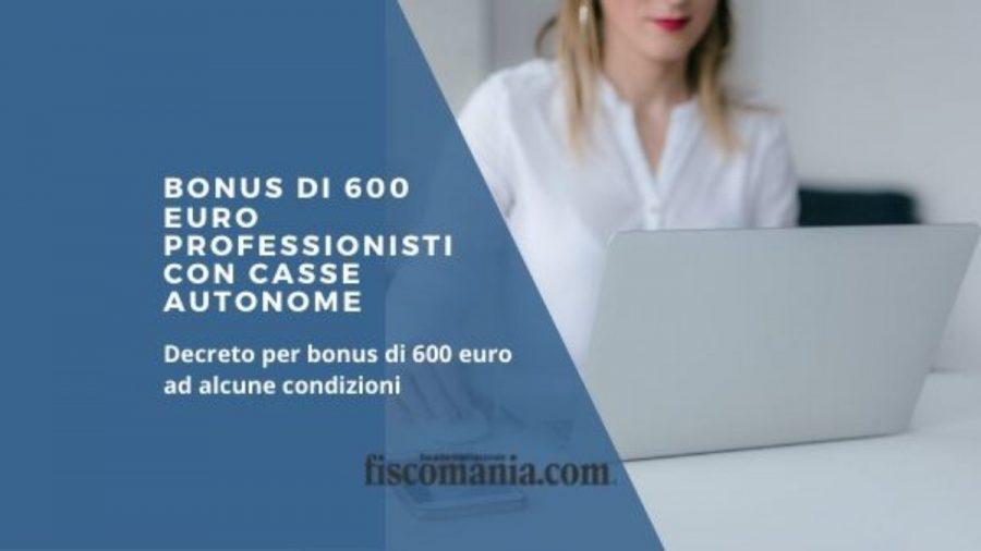 Indennita di 600 euro per marzo 2020